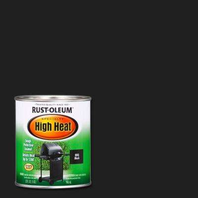 1 qt. Bar-B-Que Black Satin High Heat Paint (2 Pack)