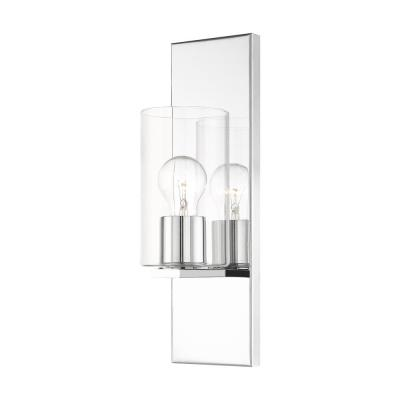 Zurich 4.5 in Polished Chrome Sconce with Clear Glass Shade