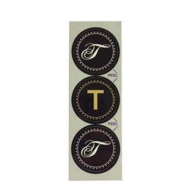 T Monogram Decorative Bathroom Sink Stopper Laminates (Set of 3)