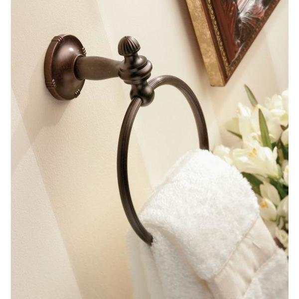 Moen Gilcrest Towel Ring In Oil Rubbed Bronze Dn0886orb The Home Depot