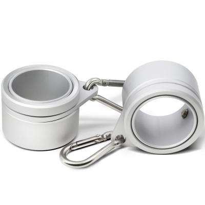 1 26 in  Dia Flag Pole Silver Aluminum Mounting Rings 360-Degree Anti Wrap  with Carabiner (2-Pack)