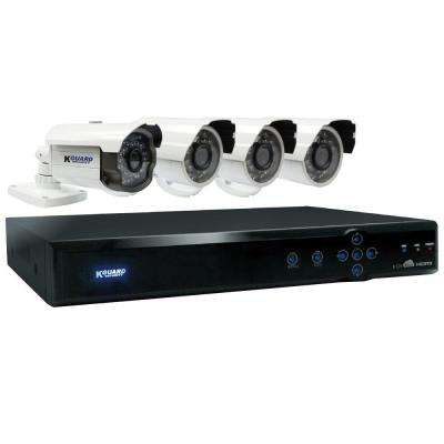 Aurora 8-Channel 960H Cloud Surveillance System with 1TB HDD (1) 800TVL Auto Tracking and (3) 700TVL Camera