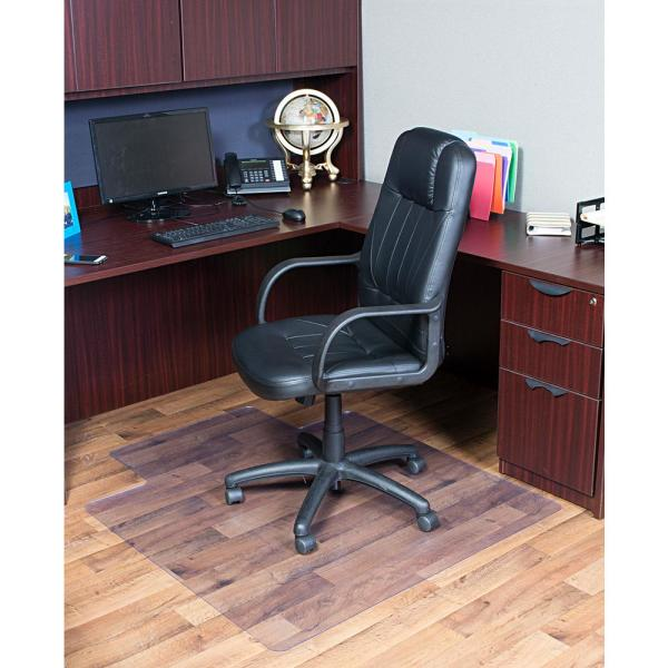 Dimex 36 In X 48 In Clear Office Chair Mat With Lip For Hard Floors 15110630 The Home Depot