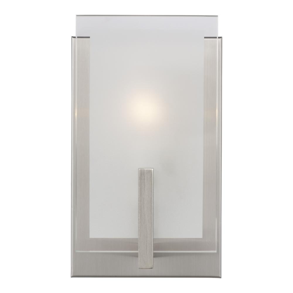 Sea Gull Lighting Syll 1-Light Brushed Nickel Wall Sconce was $82.6 now $50.15 (39.0% off)