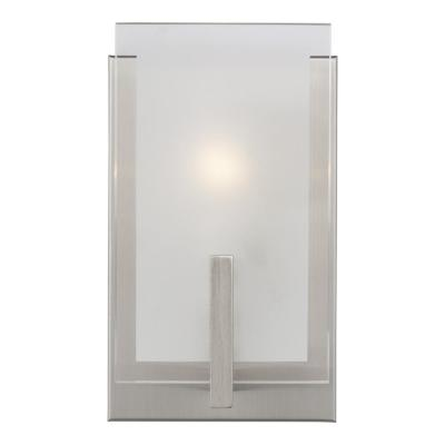 Syll 1-Light Brushed Nickel Wall Sconce