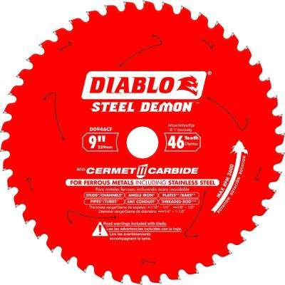 9 in. x 46-Tooth Steel Demon Cermet II Carbide Blade for Ferrous Metals and Stainless Steel