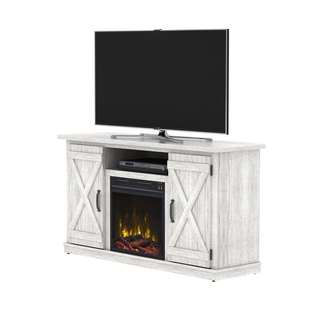 classic flame cottonwood 55 in media console electric fireplace