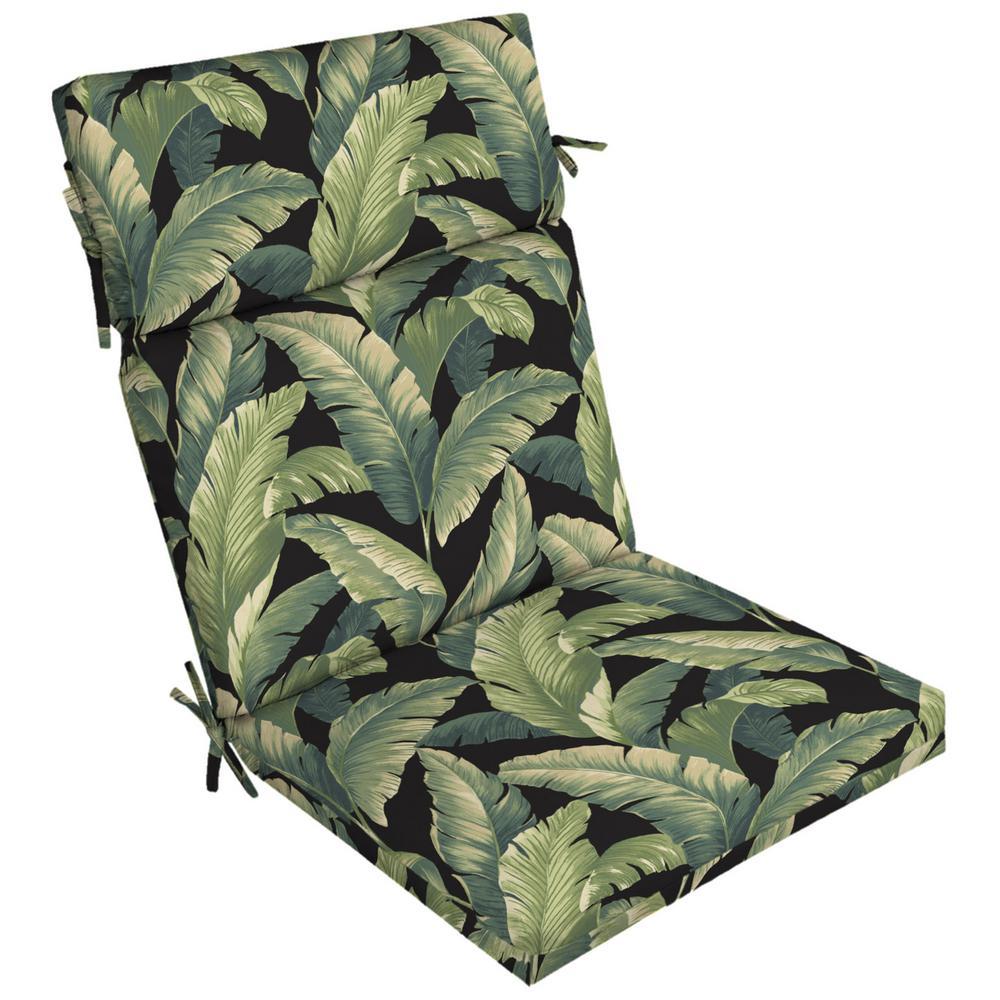 21 in. x 44 in. Onyx Cebu Outdoor Dining Chair Cushion