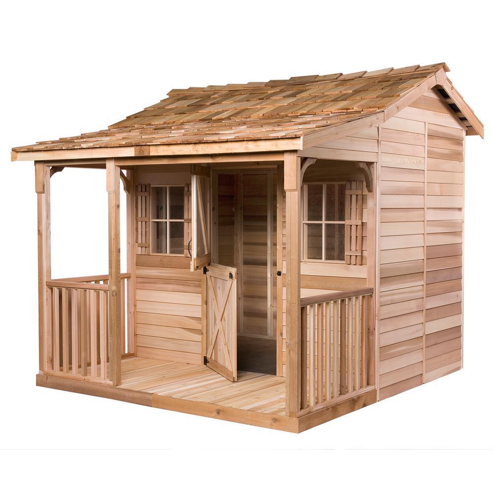 Bunkhouse 12 ft. x 12 ft. Western Red Cedar Garden Shed