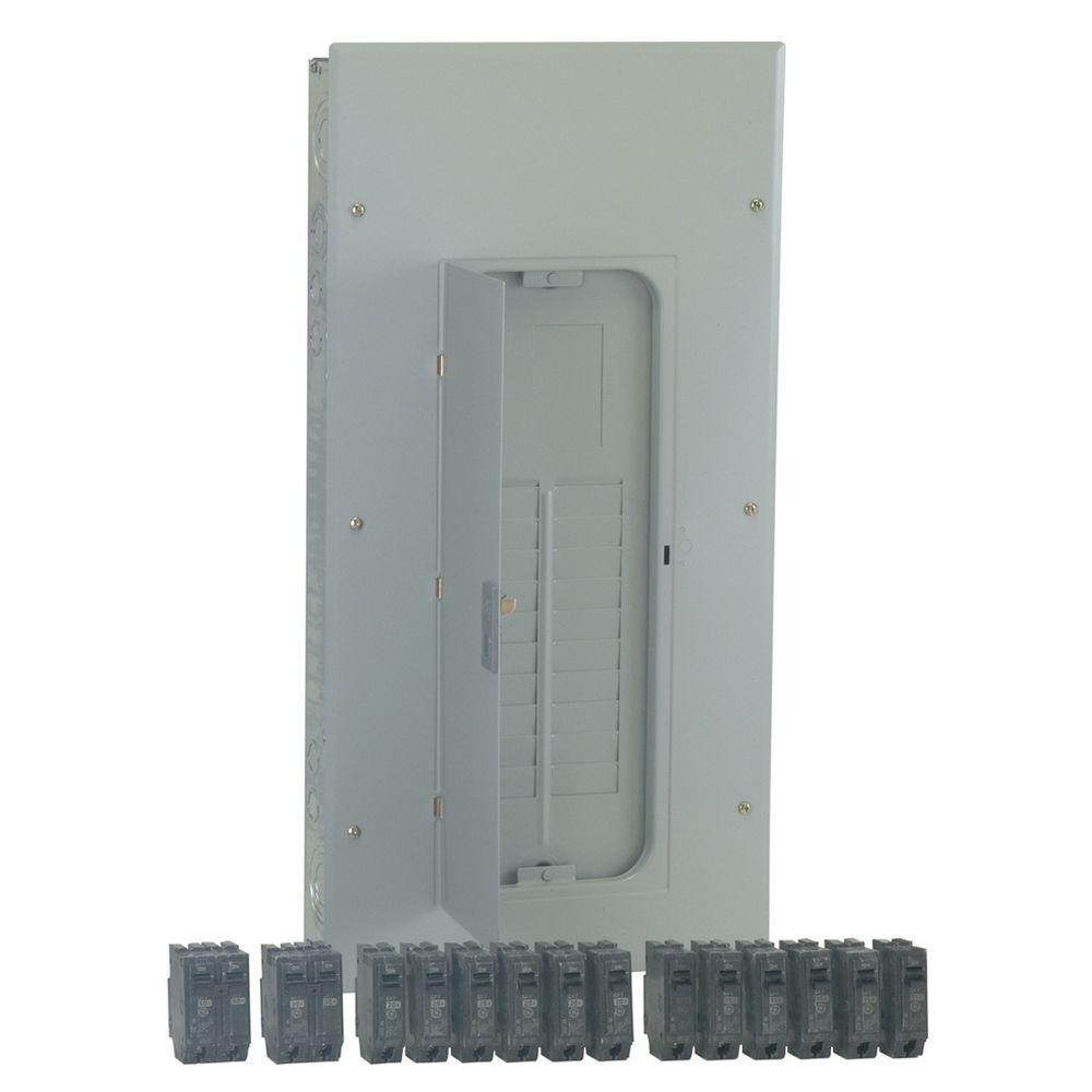 Electrical Panel And Subpanel With Cover Removed From Kits Subpanels The Home Depot Powermark