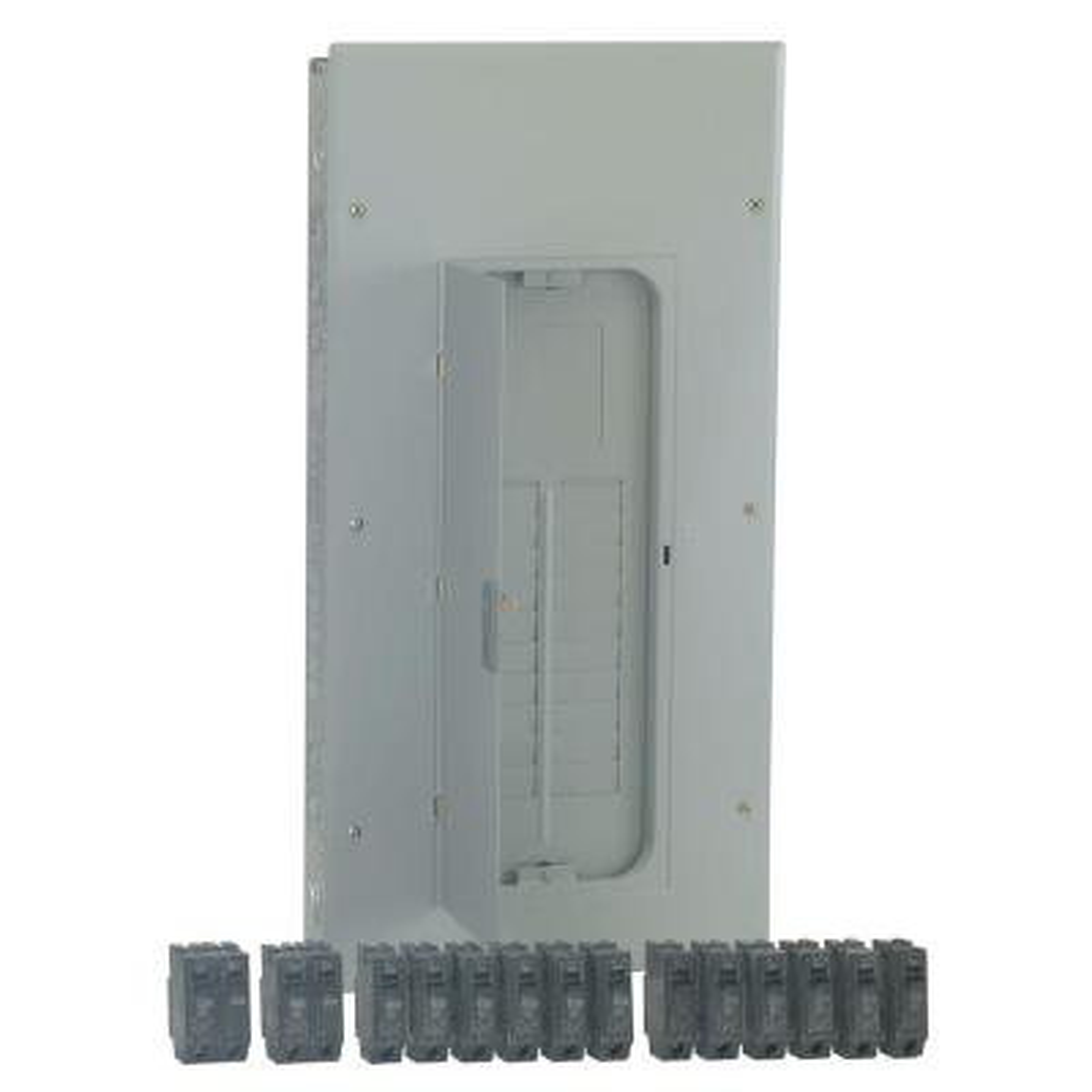 PowerMark Gold 200 Amp 20-Space 40-Circuit Indoor Main Lug Value Kit Includes Select Circuit Breaker