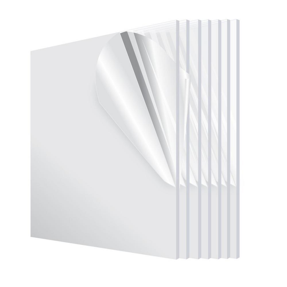 12 in. x 12 in. x 1/8 in. Plexiglass Acrylic Sheet (6-Pack)