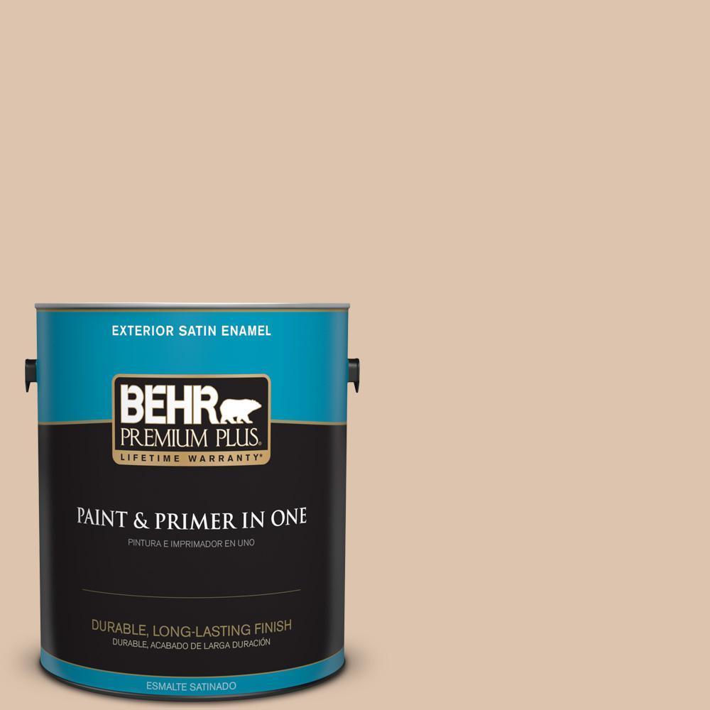 1 gal. #PPU3-08 Sienna Dust Satin Enamel Exterior Paint