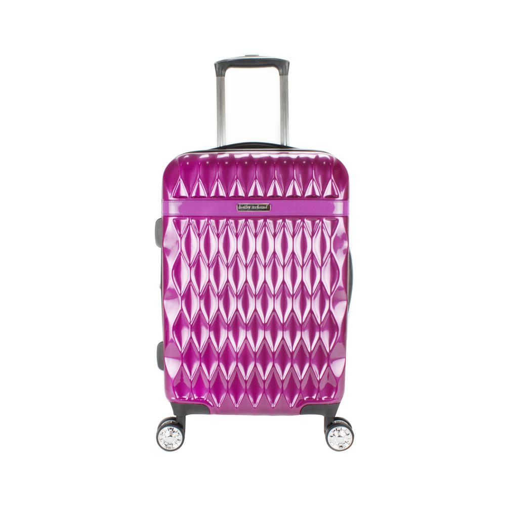 Kelly 22 in. Purple Hardside Spinner Luggage