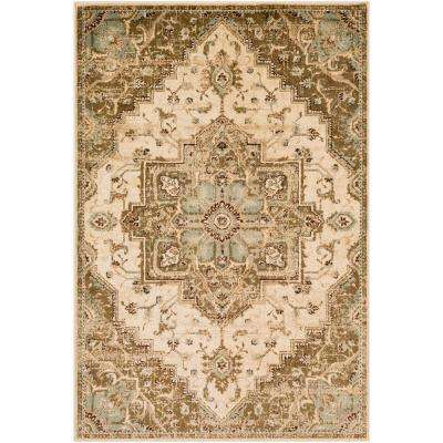Sora Khaki 6 ft. 7 in. x 9 ft. 6 in. Oriental Area Rug