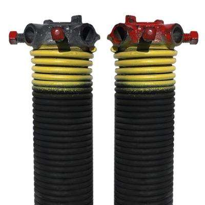 0.207 in. Wire x 2 in. D x 25 in. L Torsion Springs in Yellow Left and Right Wound Pair for Sectional Garage Doors
