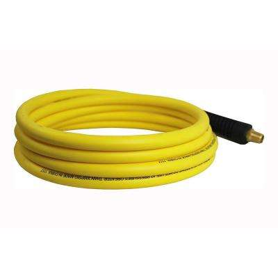 Hybrid Polymer 1/4 in. x 25 ft. Maximum 300 PSI Air Hose All Weather Lightweight No-Memory Non-Kinking