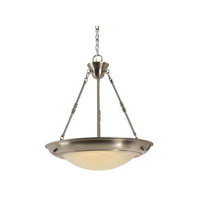 Brookings 24.26-Watt Satin Nickel Integrated LED Pendant