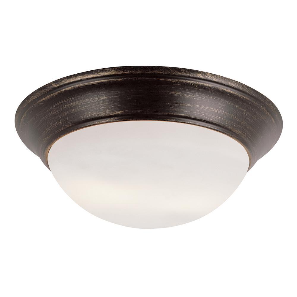 Bel Air Lighting Bolton 3 Light Rubbed Oil Bronze Flushmount