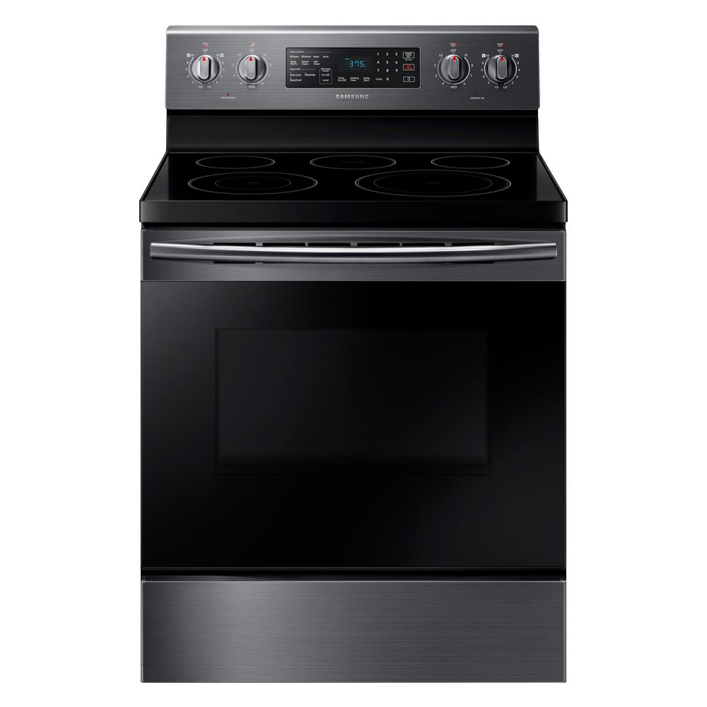 Samsung 30 In 59 Cu Ft Single Oven Electric Range With Self