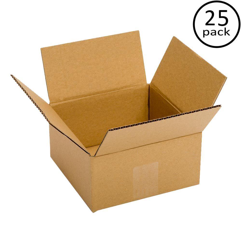Pratt Retail Specialties 6 in. L x 6 in. W x 4 in. D Box (25-Pack)