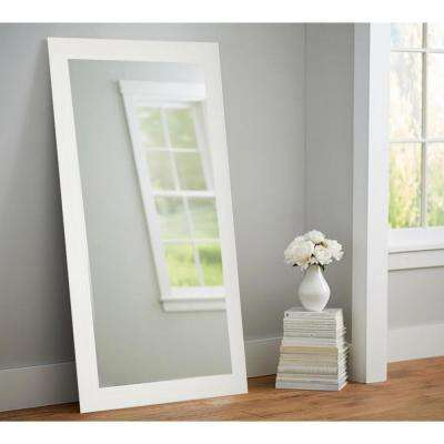 Farmhouse Oyster Shell 32 in. x 65.5 in. Tall Mirror