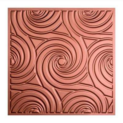 Typhoon - 2 ft. x 2 ft. Lay-in Ceiling Tile in Argent Copper