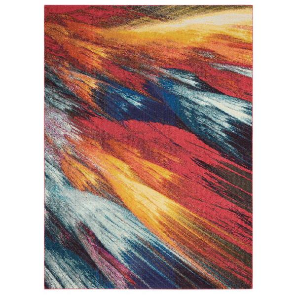 Celestial Burst Multicolor 5 ft. x 7 ft. Abstract Contemporary Area Rug