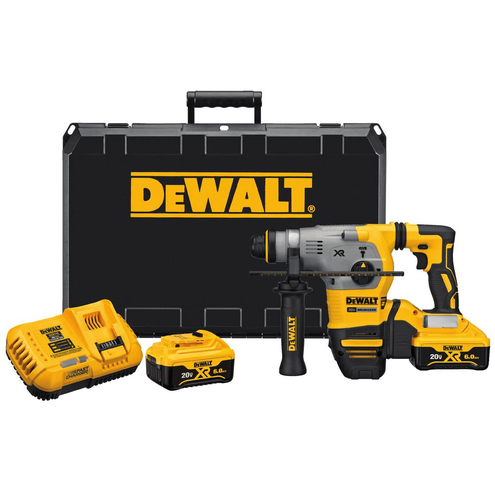 DEWALT 20-Volt MAX XR Li-Ion 1 in. Cordless SDS-plus Brushless D ...