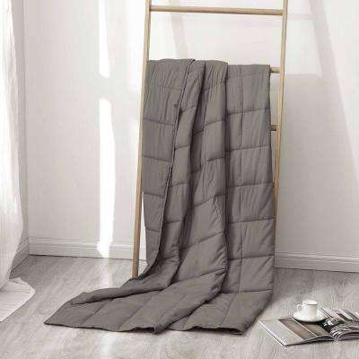 Charcoal 100% Cotton 20 lbs. Weighted Blanket