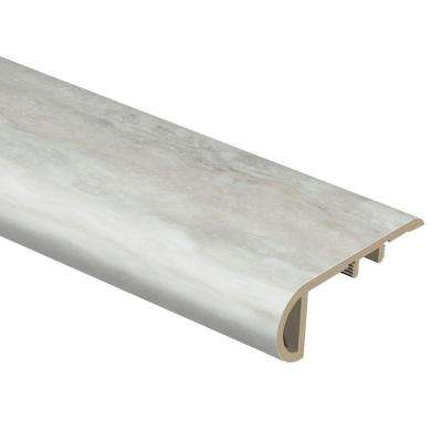 Aegean Travertine White 3/4 in. Thick x 2-1/8 in. Wide x 94 in. Length Vinyl Stair Nose Molding