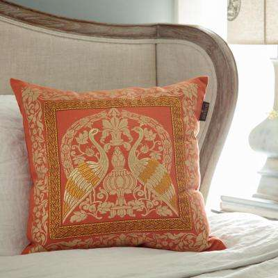 Crane Sari 20 in. Square Toss Pillow
