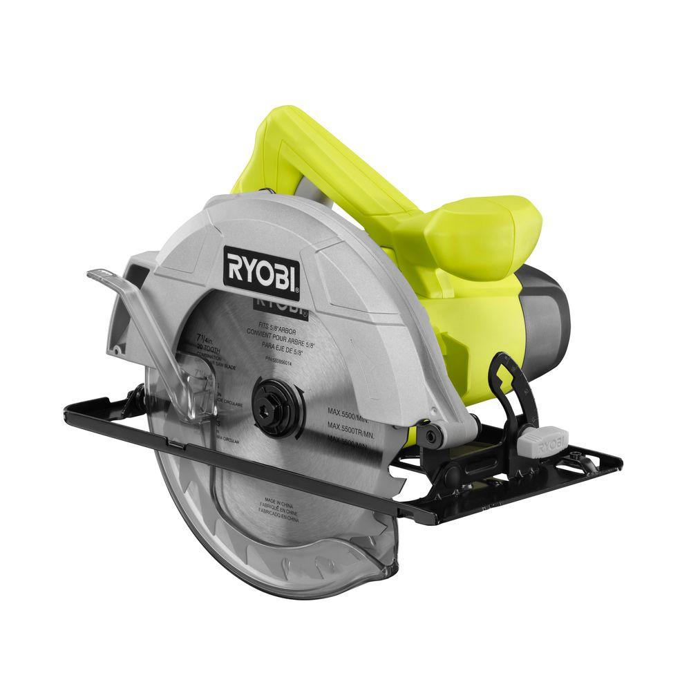Ryobi 13 amp 7 14 in circular saw csb125 the home depot circular saw greentooth Choice Image