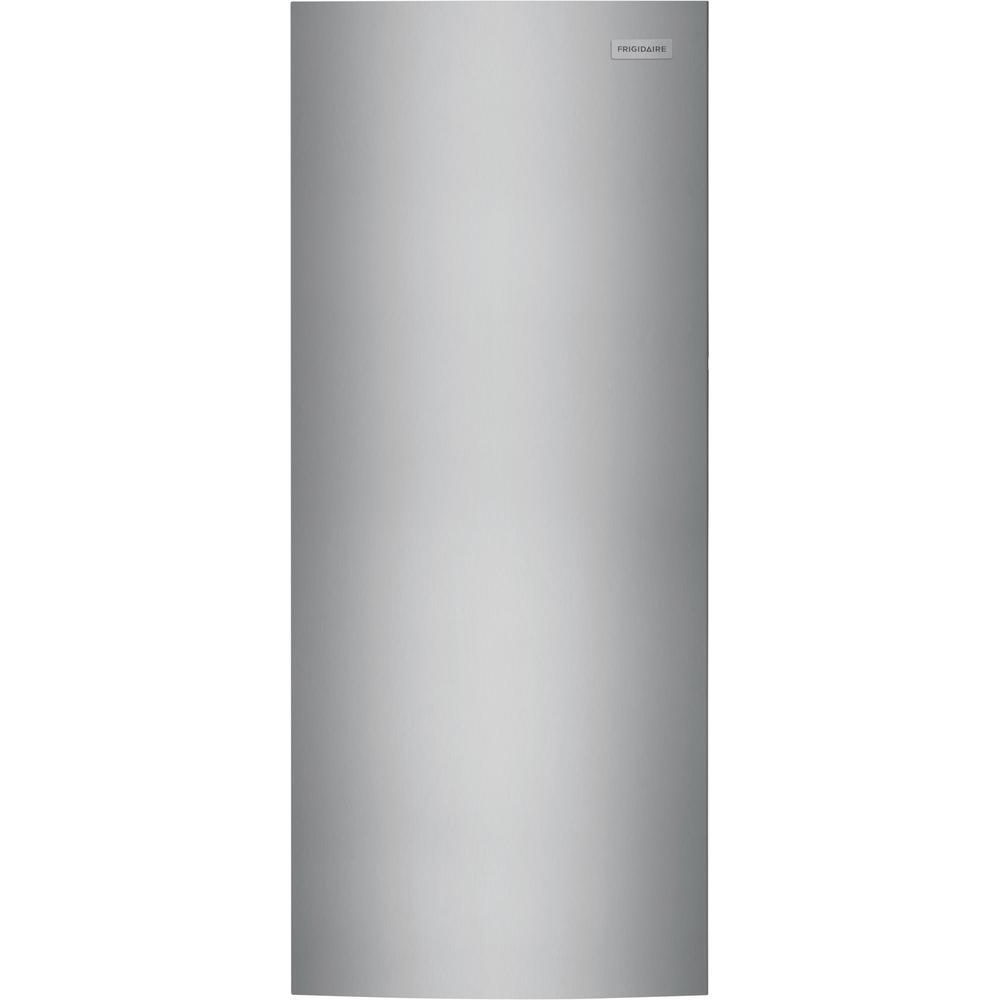 Frigidaire 16 Cu Ft Frost Free Upright Freezer In Brushed Steel Fffu16f2vv The Home Depot