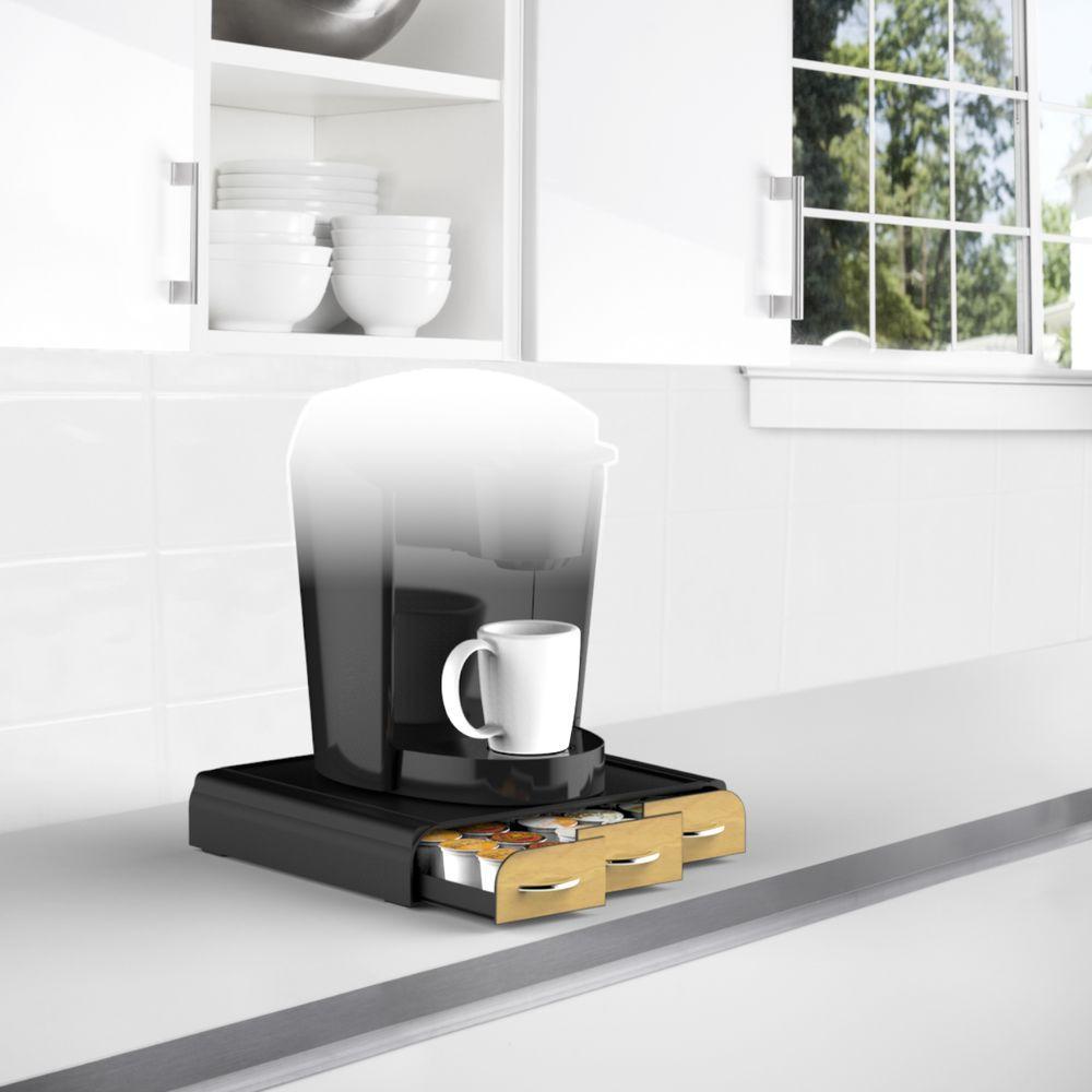 Anchor 36 K-Cup Coffee Pod Drawer with Wood Veneer