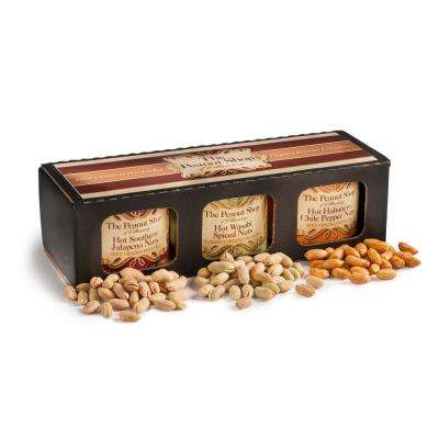 Hot & Savory Sampler with Hot Southern Jalapeno Nuts, Hot Wasabi Spiced Nuts and Hot Habanero Nuts