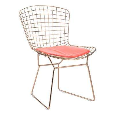 Red Mesh Wire Outdoor Chair Cushion