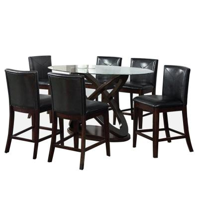 Atenna ii Dark Walnut 6-Piece Counter Height Table Set