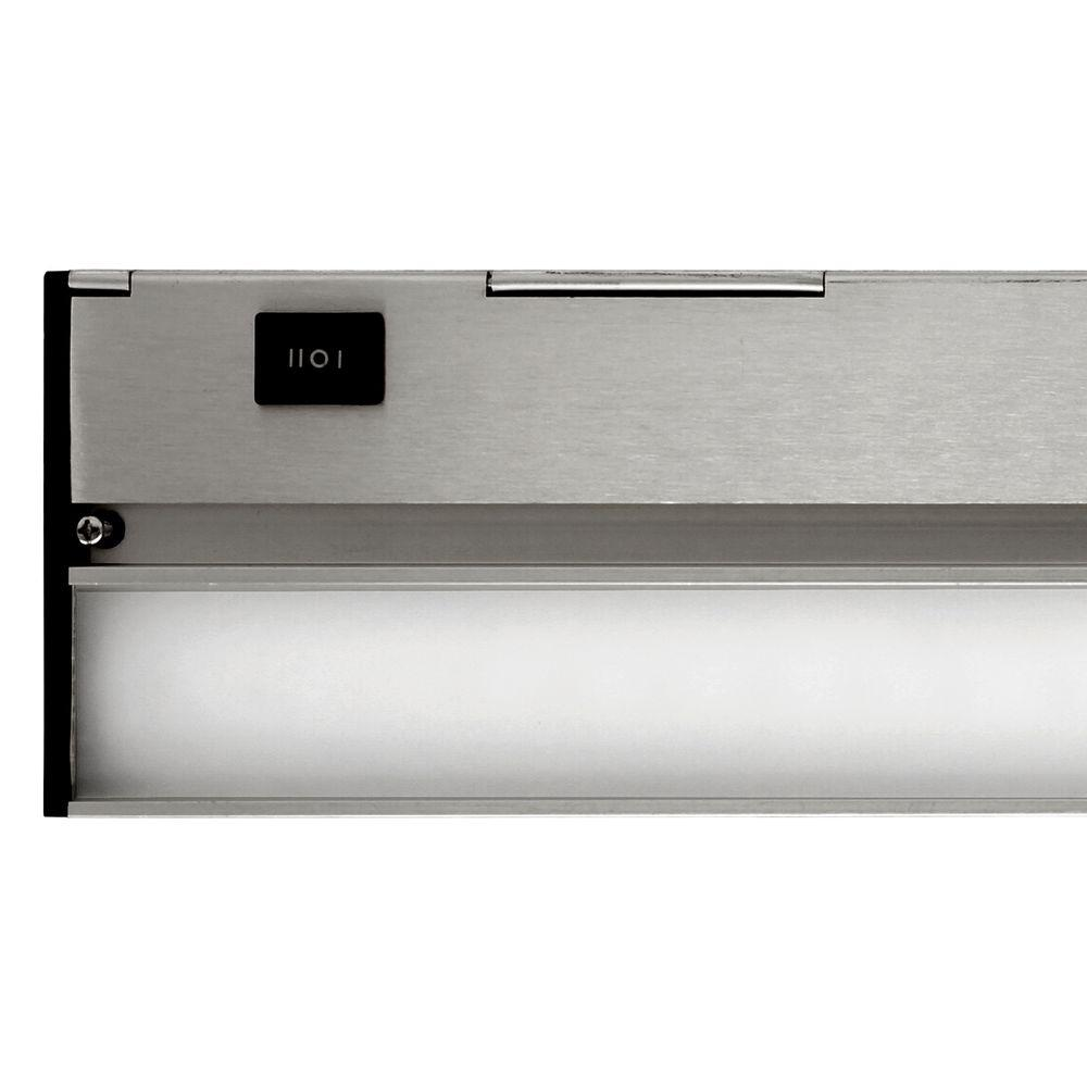 Nicor Slim 12 in. LED Nickel Dimmable Under Cabinet Light Fixture