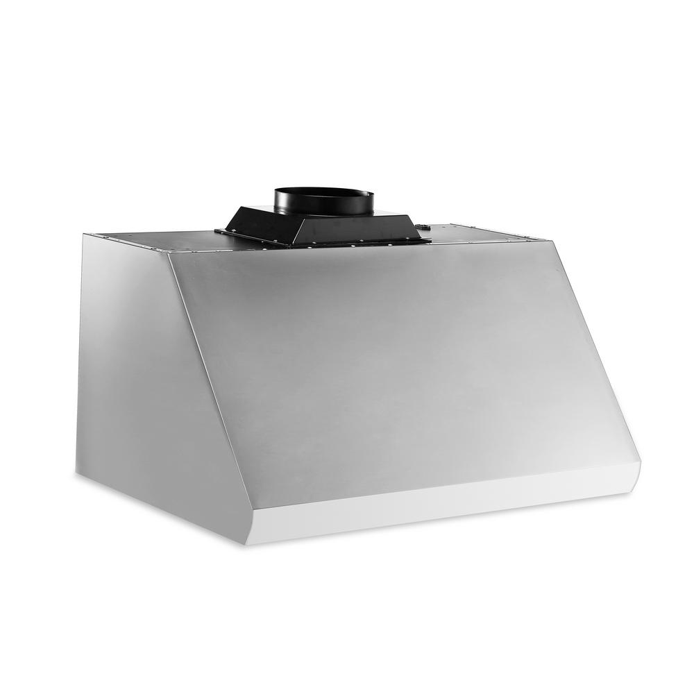 Thor Kitchen 30 in. Undercabinet Range Hood in Stainless Steel (Silver) This 30 in. Undercabinet Range Hood will fulfill all your needs. It comes equipped with 900 CFM, stainless steel baffle filters and 2 x LED Lights. The unit is stainless steel. The hood is tailored for 30 in. Ranges.