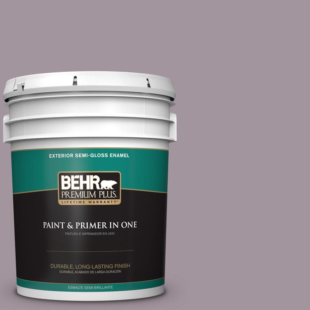 5 gal. #PPU17-13 Heather Plume Semi-Gloss Enamel Exterior Paint