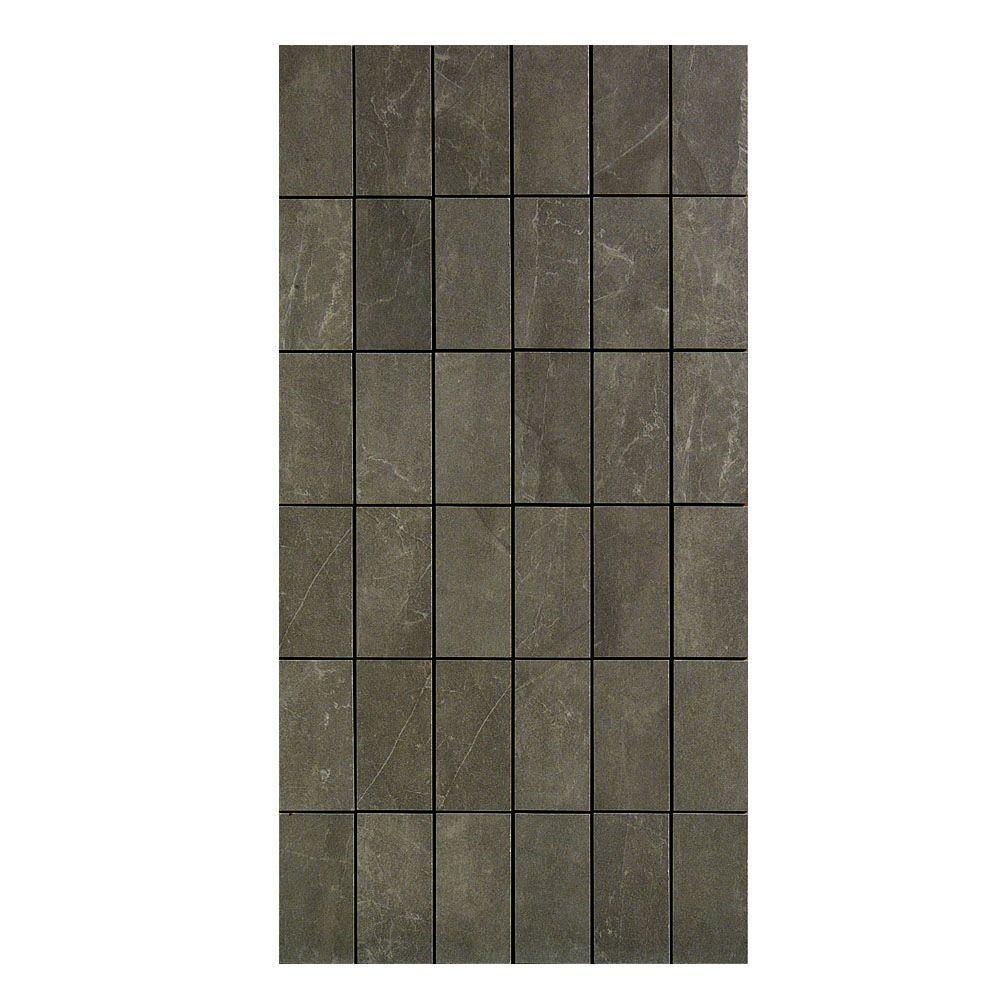 U.S. Ceramic Tile Avila 12 in. x 24 in. Alga Porcelain Mosaic Tile-DISCONTINUED