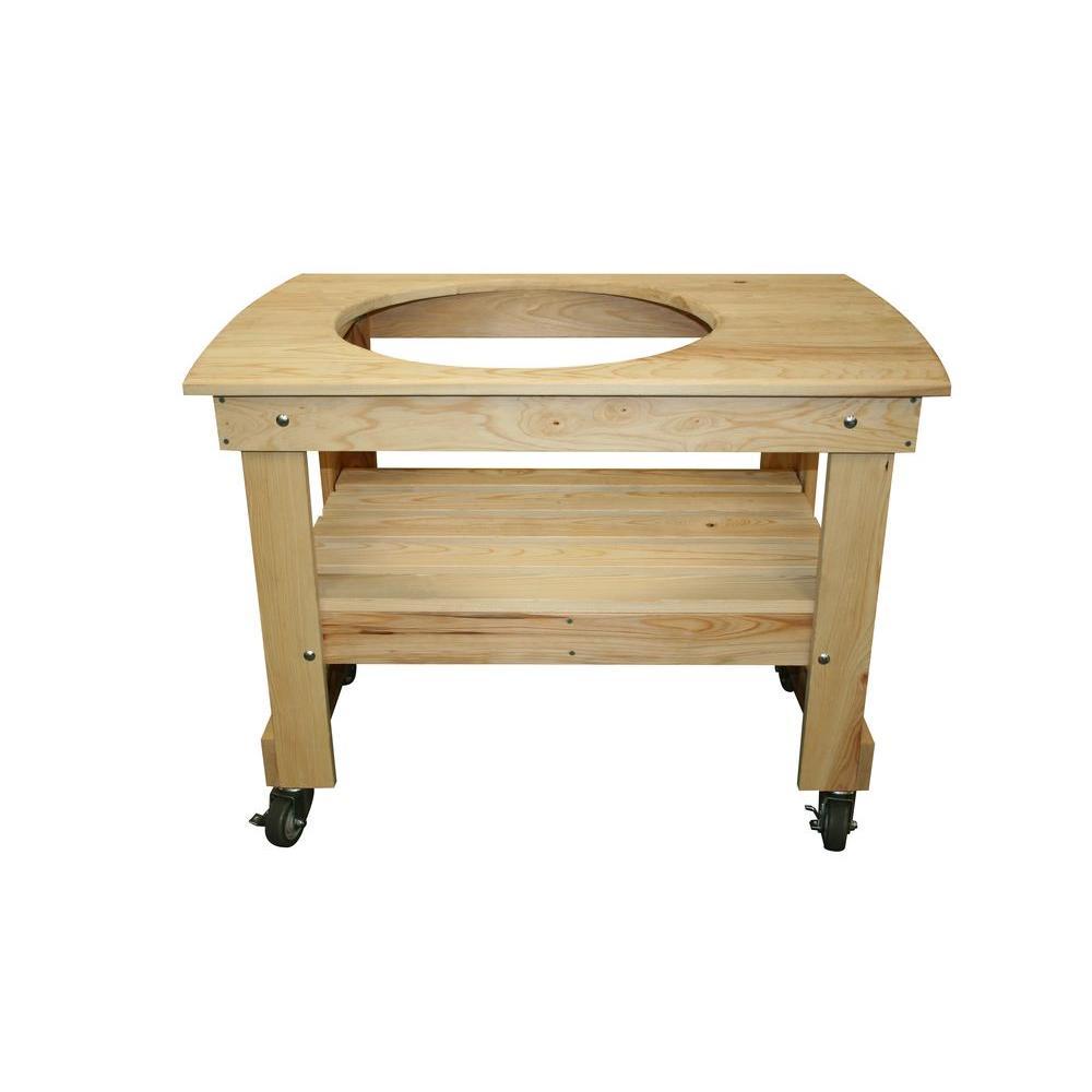 Small Cypress Wood Kamado Table