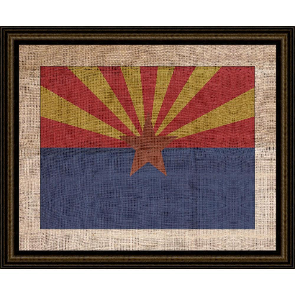 """29 in. x 23 in. """"Arizona State Flag"""" Framed Giclee Print Wall Art"""