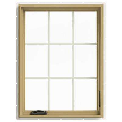 30 in. x 40 in. W-2500 Right-Hand Casement Aluminum Clad Wood Window