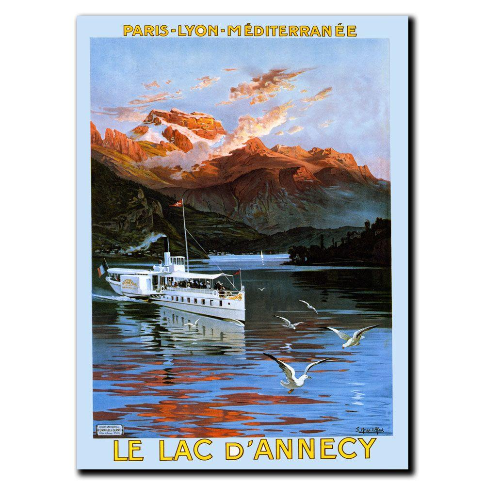 Trademark Fine Art 18 in. x 24 in. Le Lac D'Annecy Canvas Art