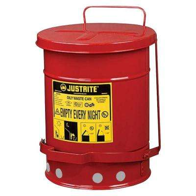 21 Gal. Red Oily Waste Can
