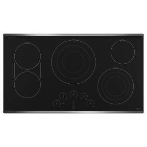 36 in. Radiant Electric Cooktop in Stainless Steel with 5 Elements including Tri-Ring Power Boil Element