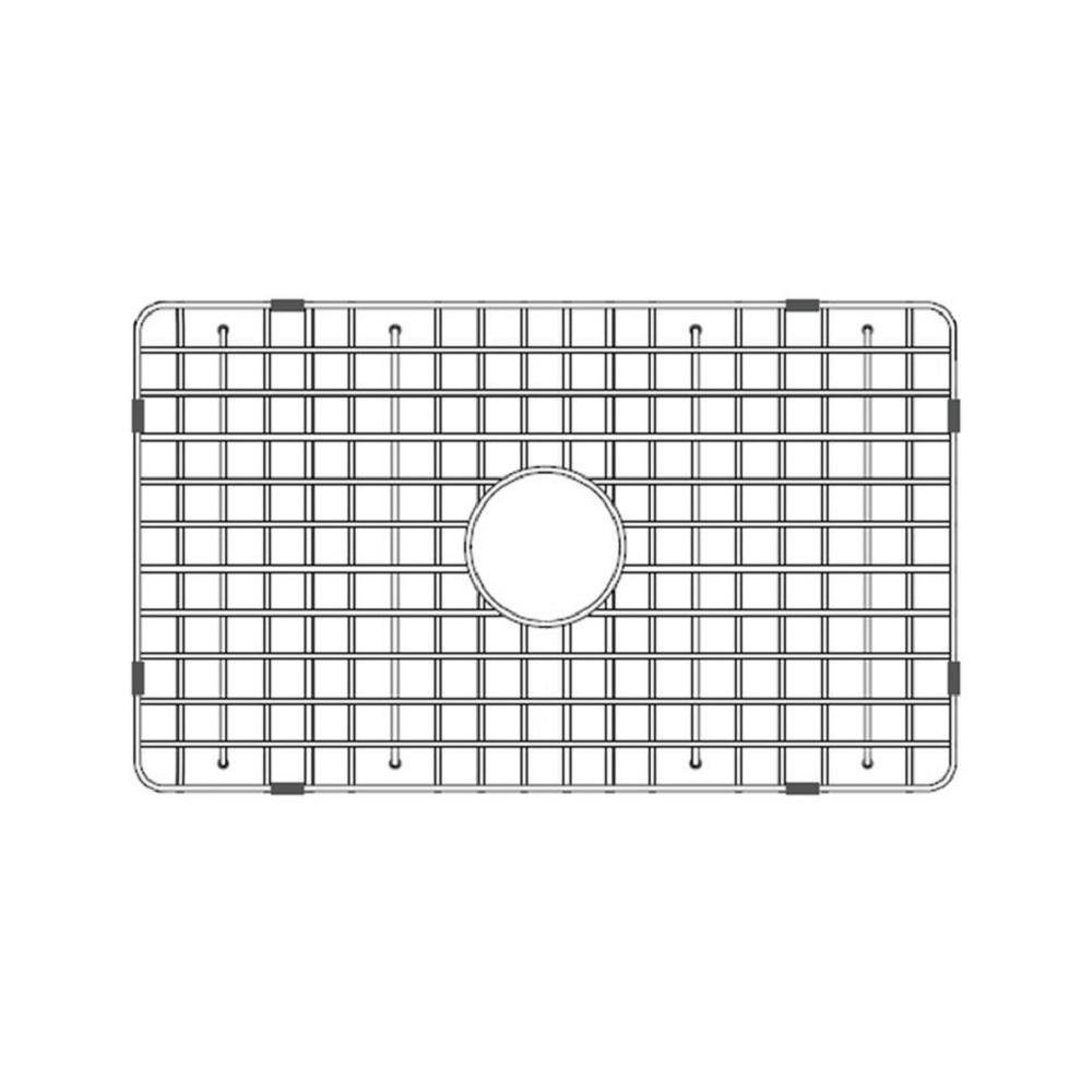 LaToscana 27.5 In. Fireclay Grid For Undermount Single Bowl Sink In  Stainless Steel SSG LTW3019W   The Home Depot