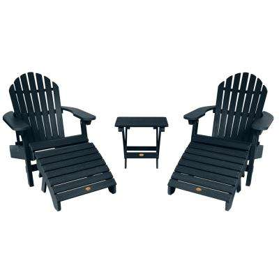 Hamilton Federal Blue 3-Piece Recycled Plastic Outdoor Conversation Set